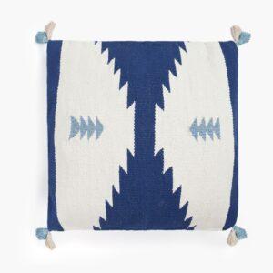 cojin navajo azul