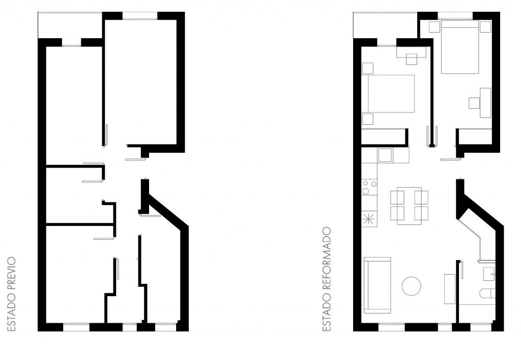 Reforma vivienda antes después studiobmk arquitectura e interiores