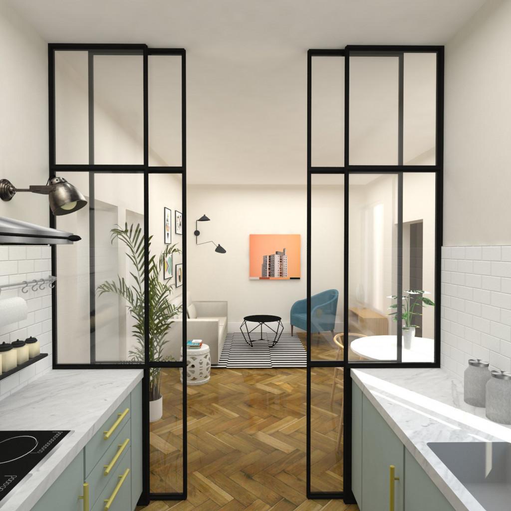 Arquitecto de interiores madrid proyecto vivienda general - Arquitecto de interiores ...